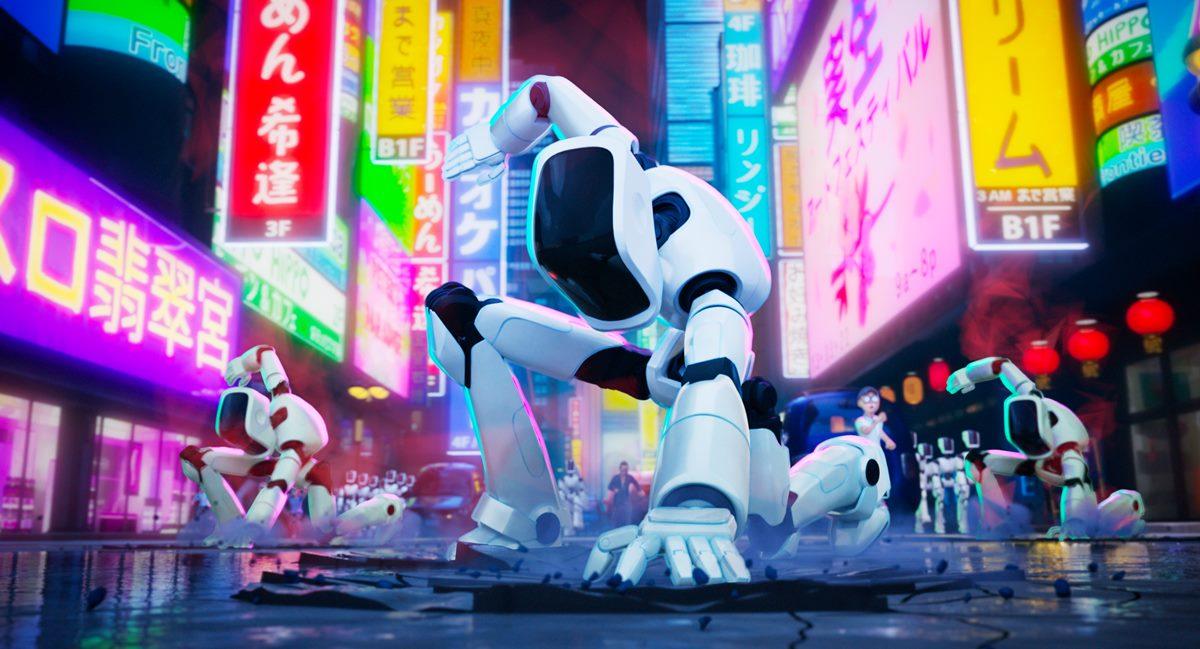 Cena da animação A família Mitchell e a revolta das máquinas