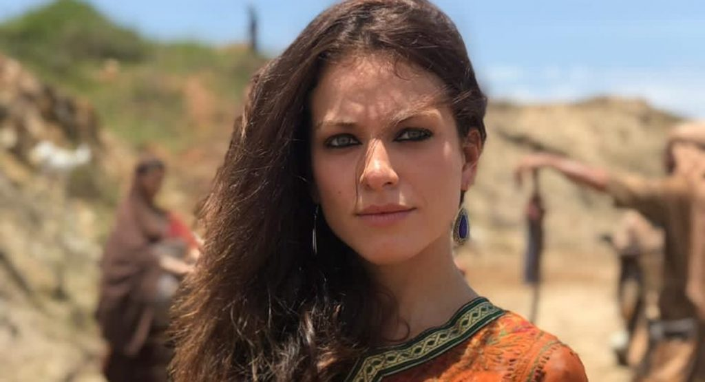 Jéssica Juttel como Michal na novela Gênesis