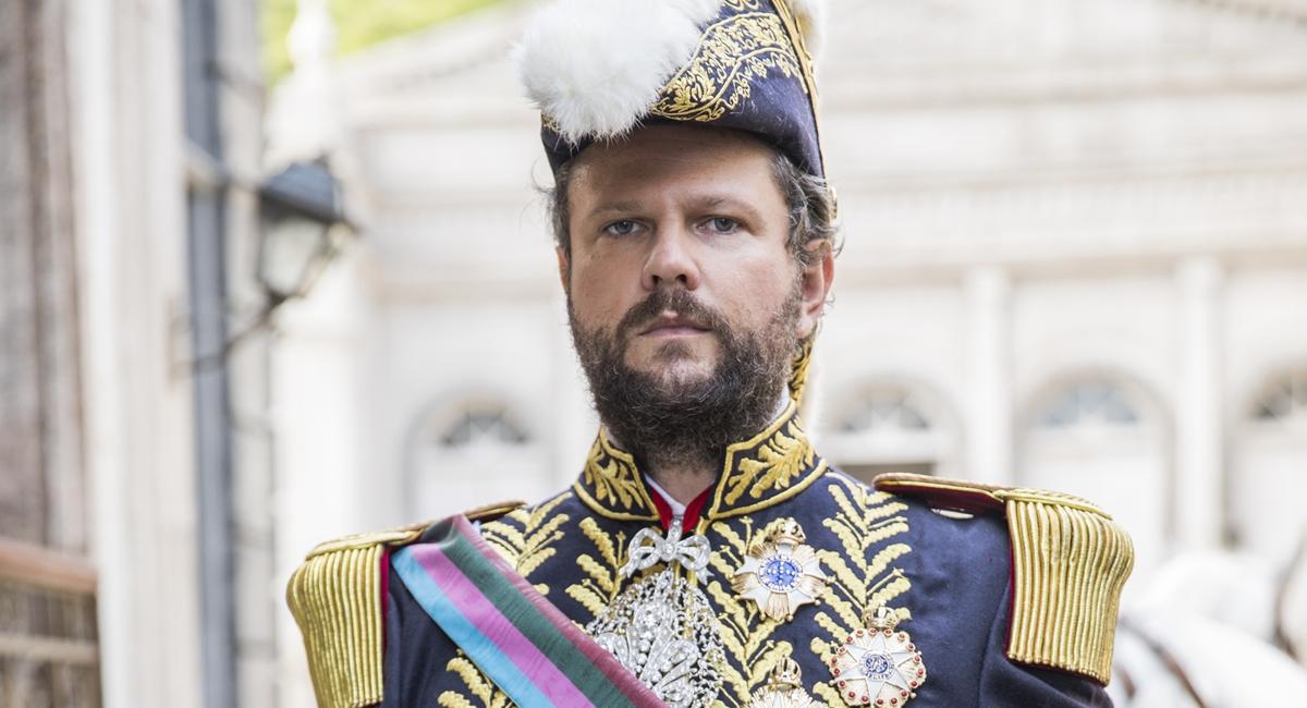 Selton Mello como Dom Pedro II em Nos tempos do imperador