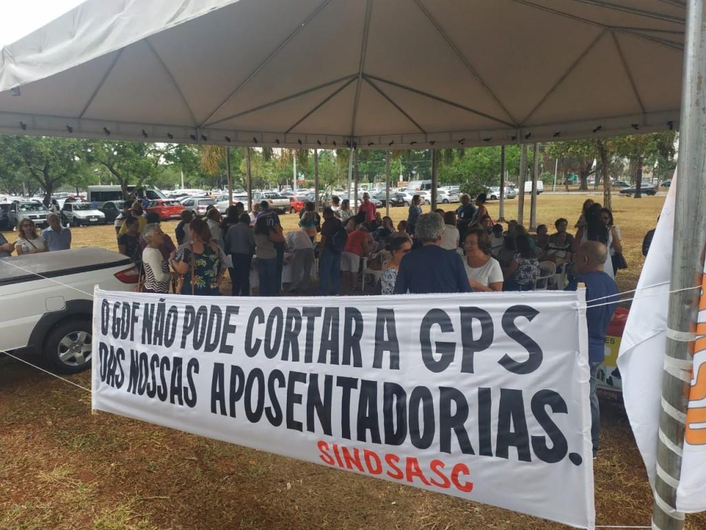 Protesto contra do corte da GPS - Foto Divulgação Sindsasc (3)