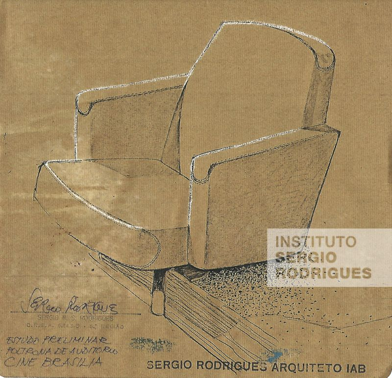 Croqui de cadeira do Cine Brasília