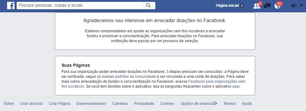 facebook fundraise
