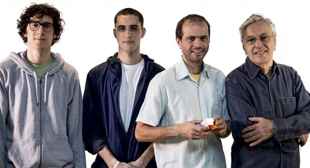 Caetano, Moreno, Zeca e Tom Veloso se apresentam em dezembro em Brasília. Crédito: Arquivo Pessoal.