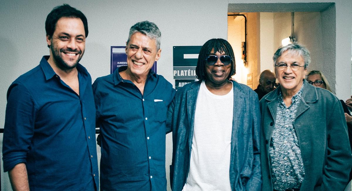 Antonio Zambujo, Chico Buarque, Milton Nascimento e Caetano Veloso. (Lux Shows/Divulgação. )